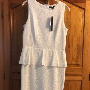 Cynthia Steefe White peplum bodycon dress